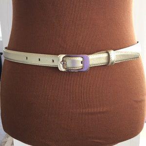 Calvin Klein Gold Color Leather Belt